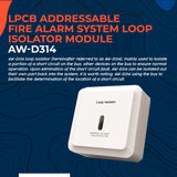 LPCB Addressable Fire Alarm System Loop Isolator Module for Fire Alarm System AW-D314