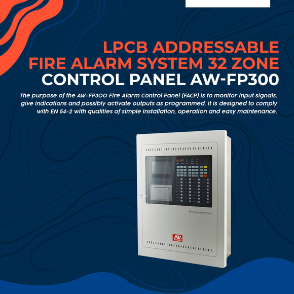LPCB Addressable Fire Alarm System 32 Zone Control Panel AW-FP300