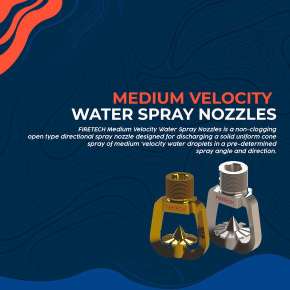 Medium Velocity Water Spray Nozzles
