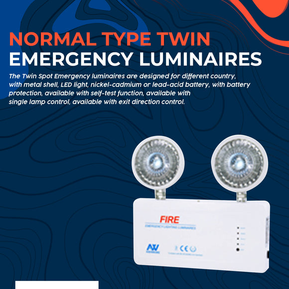 Normal Type Twin Emergency Luminaires