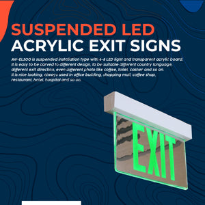 Suspended LED Acrylic Exit Signs AW-EL300