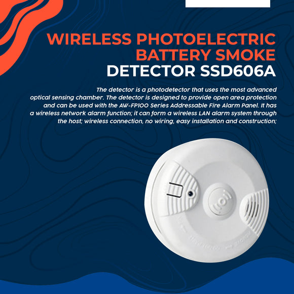 Wireless Photoelectric Battery Smoke Detector SSD606A