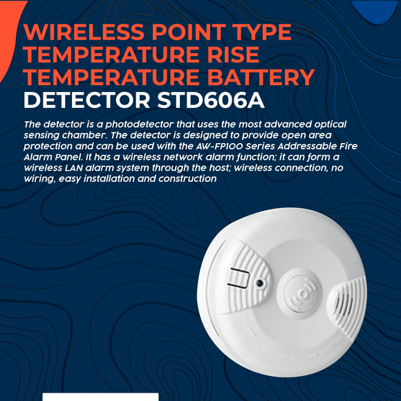 Wireless Point Type Temperature Rise Temperature Battery Detector STD606A