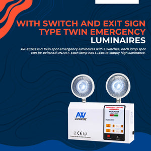With Switch Type Twin Emergency Luminaires