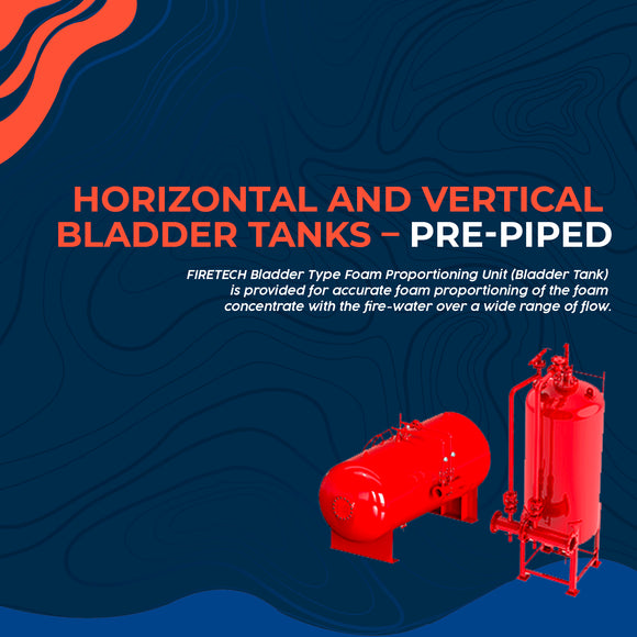 Horizontal and Vertical Bladder Tanks – Pre-Piped