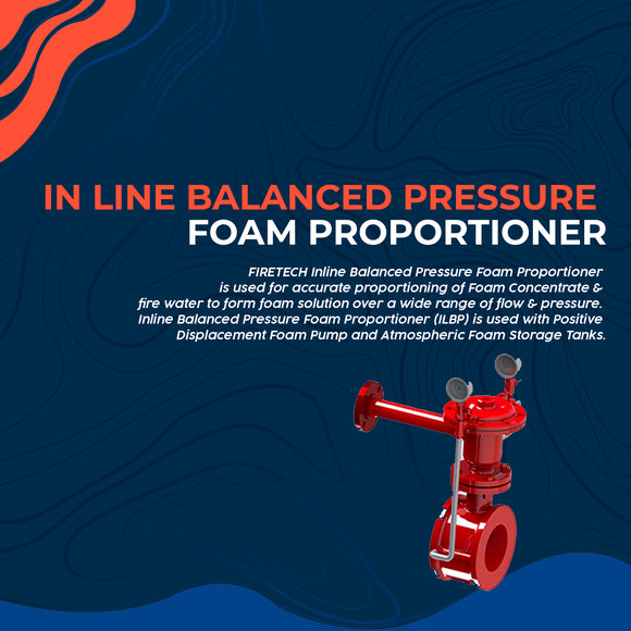 In line Balanced Pressure Foam Proportioner