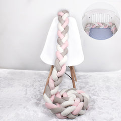 Baby Bed Bumper Braid Knot Long