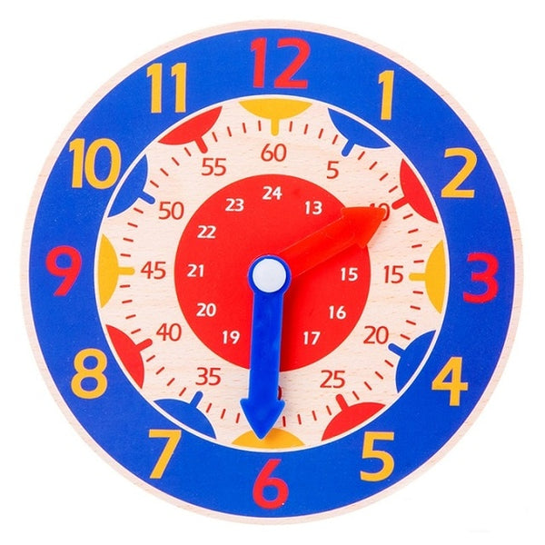 Children Montessori Wooden Clock Toy
