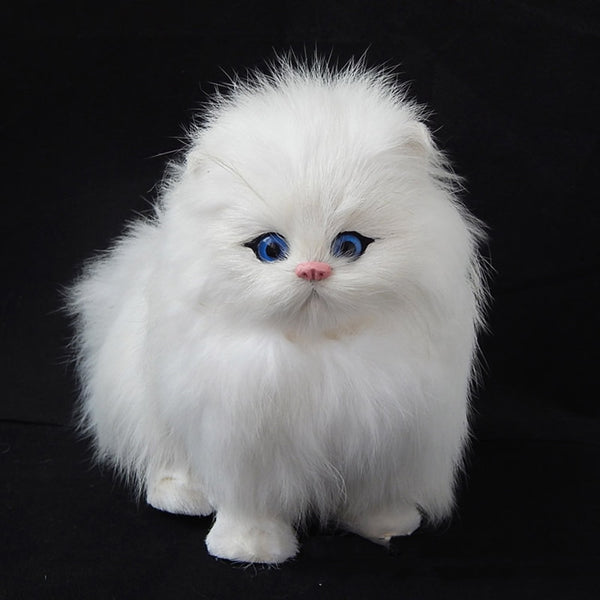 Real Hair Cat Dolls Simulation animal toy