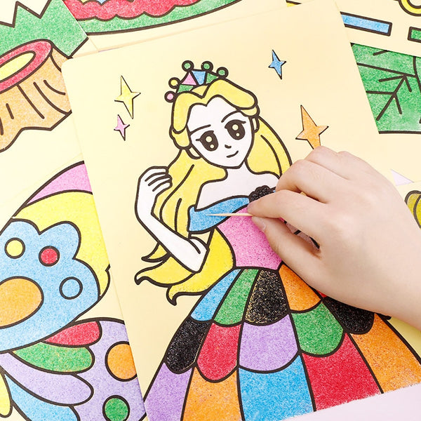 Sand Art Pictures Drawing Paper Educational Toy