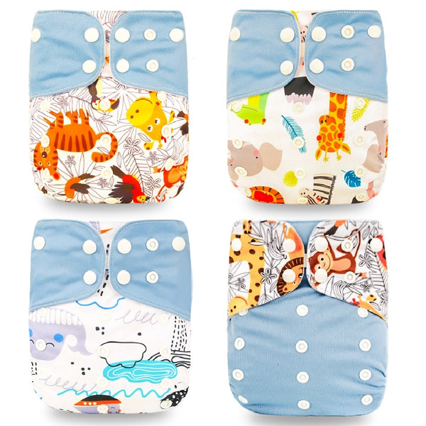 Pocket Diaper 4pcs/set