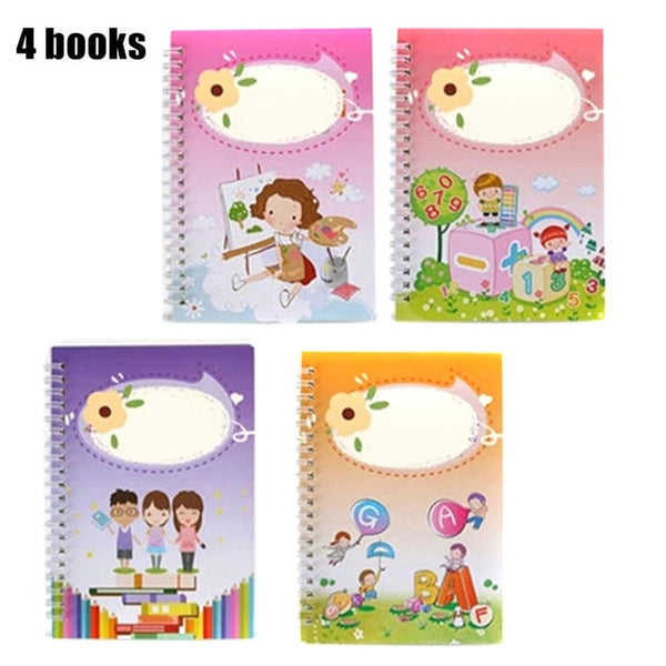 Magic Practice Copybook 4PCS + Pen