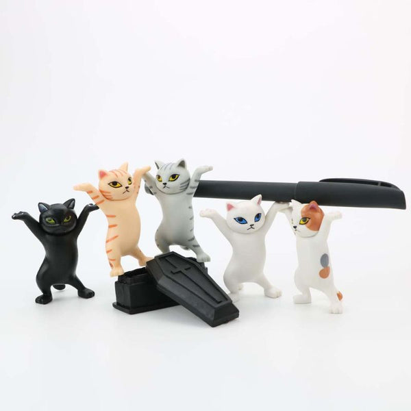 Cat pen holder black cat without coffin bracket