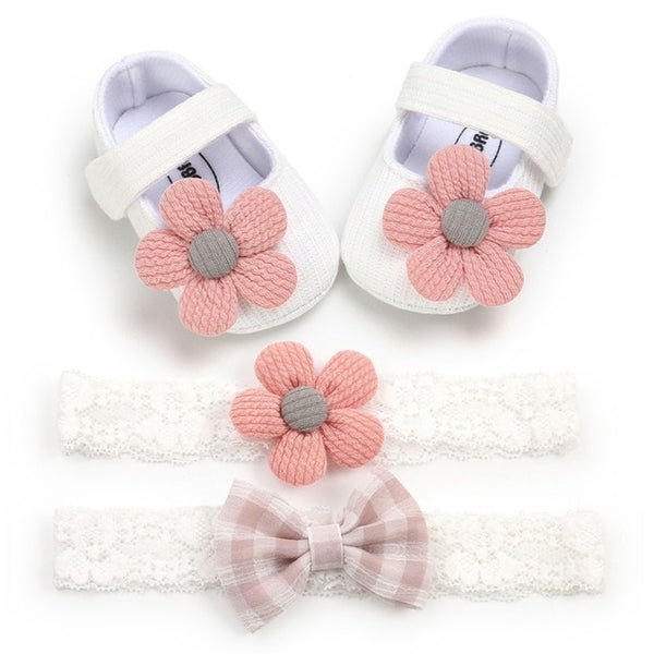 new born Anti-slip Sneakers bow baby shoes