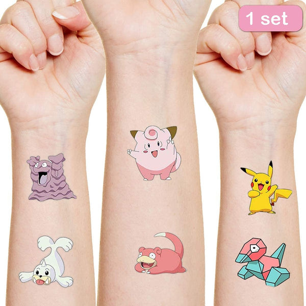 Pokemon Originales Tattoo Sticker