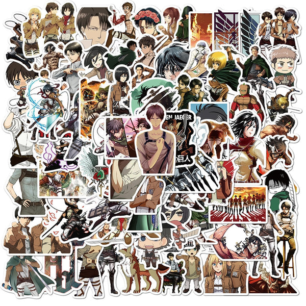 10/30/50Pcs/Pack Attack On Titan Anime Stickers