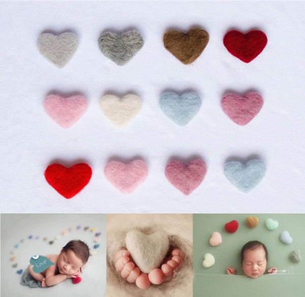 Newborn Photography Props Heart Wool  DIY