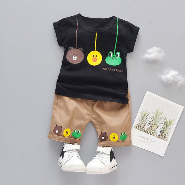 1 2 3 Years Kids Clothes Sets T-Shrit+Shorts