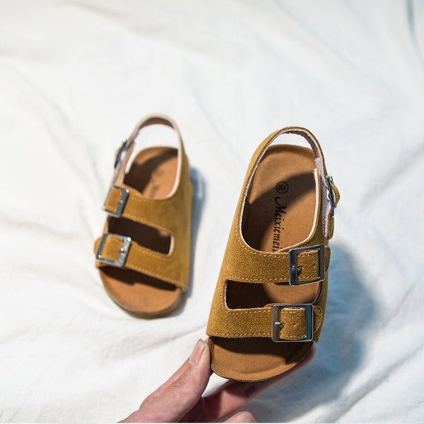 2021 Summer Boys and Girls Leather Sandals