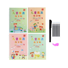 4 Books + Pen Magic Practice Copybook