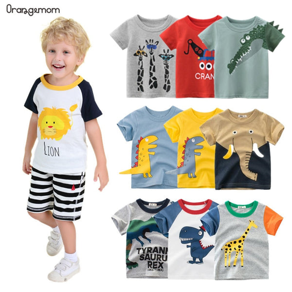 Orangemom anime 2021 Summer children's clothing boys short sleeve T-shirt kids sweatshirt child's cotton clothes boys t shirt