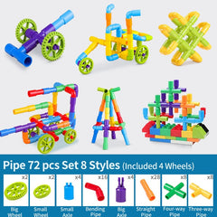 Pipe Building Blocks Toy 72PCS