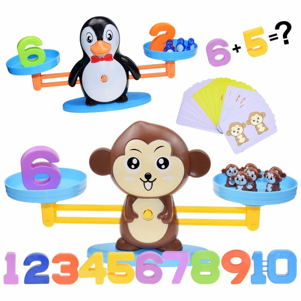 Montessori Math Toy Digital Monkey Balance Scale