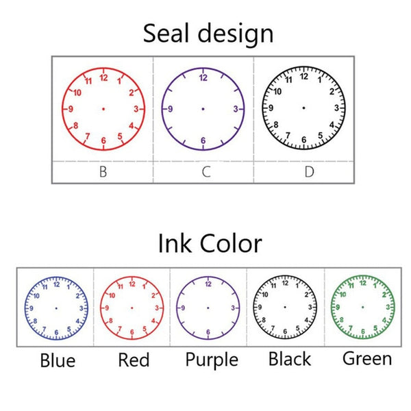 1pc Learning Recognition Teacher Teaching Seal Clock Dial Stamps