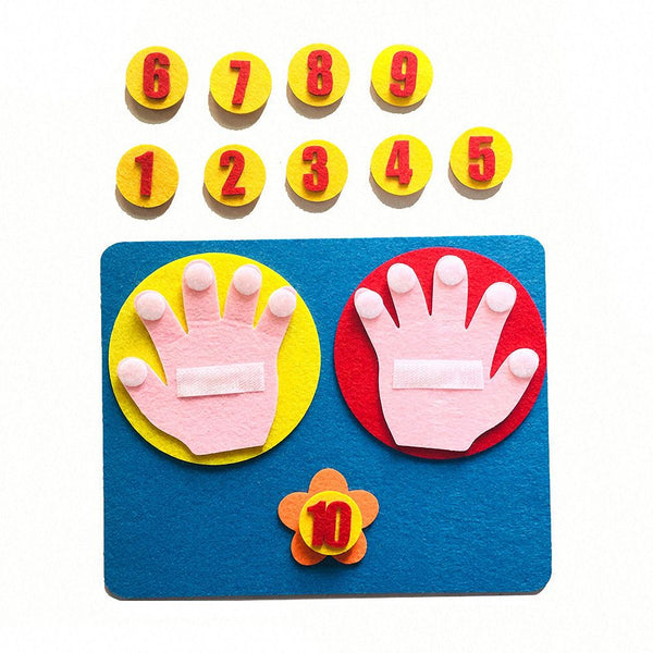 1Set Handmade Felt Finger Numbers