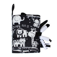 Montessori Baby Cloth Book Black And White Quiet