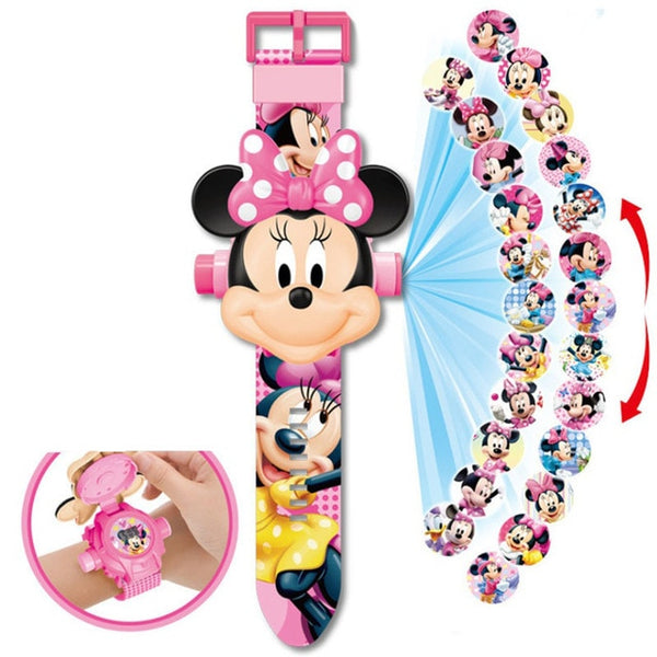 Disney cartoon children watch 3D
