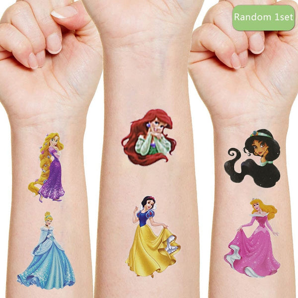 Hot Disney princess Cartoon Tattoo Sticker