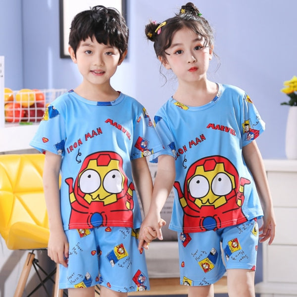 Sleepwear Short Sleeve Cartoon Kid