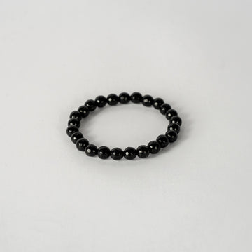 8mm Faceted Bracelet Onyx