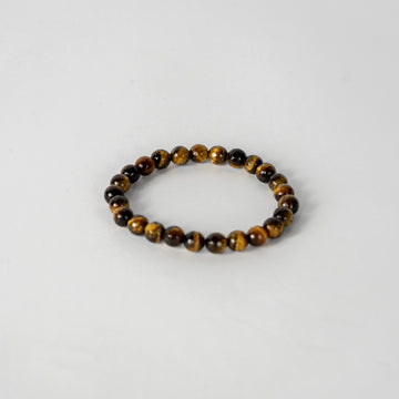 8mm Faceted Bracelet-Tiger Eye