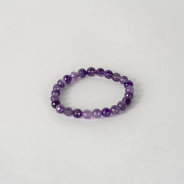 8mm Faceted Bracelet-Amethyst