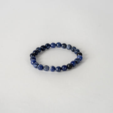 8mm Faceted Bracelet-sodalite