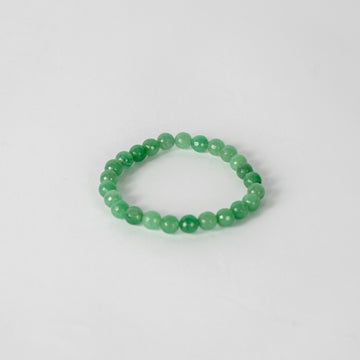 8mm Faceted Bracelet-Green Aventurine