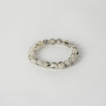 10mm Bracelet-Tourmalinated Quartz