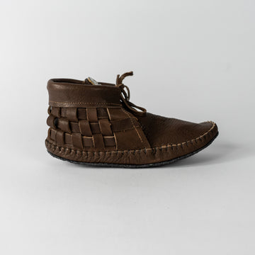 Handcrafted Moccasins -Woven with Abalone Shell
