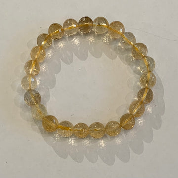 8mm Faceted Bracelet-Citrine