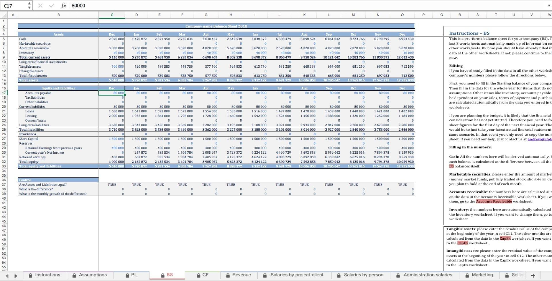 Professional Services Budget Excel Template - Templarket -  Business Templates Marketplace