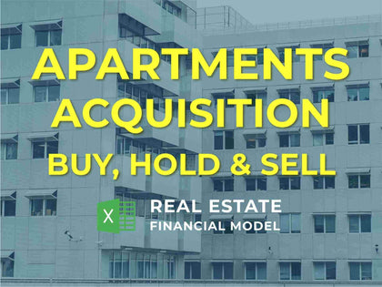 Apartments Property Acquisition Real Estate Financial Model Excel Template - Templarket -  Business Templates Marketplace
