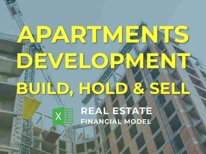 Apartments Development Real Estate Financial Model Excel Template - Templarket -  Business Templates Marketplace