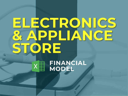 Appliance Store Financial Model Excel Template - Templarket -  Business Templates Marketplace