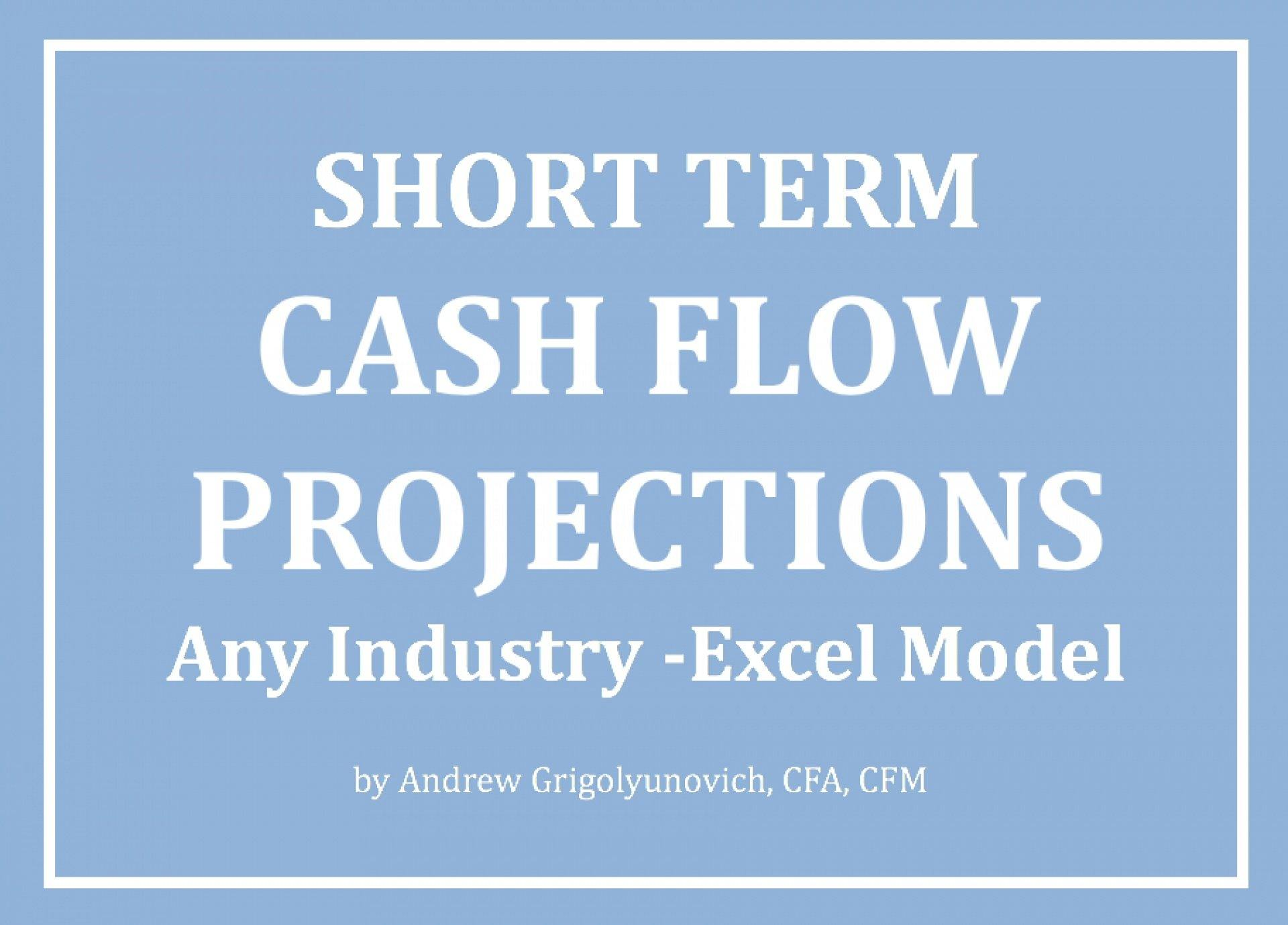 Short Term Cash Flow Projections Excel Model - Any Industry - Templarket -  Business Templates Marketplace