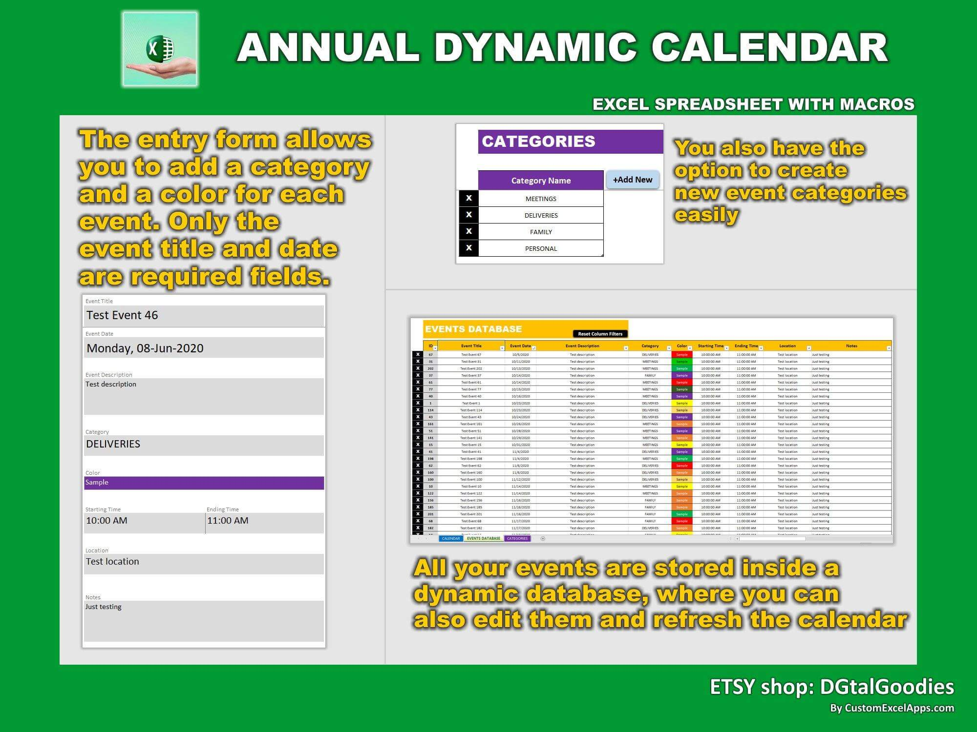 annual dynamic planner in excel very 1