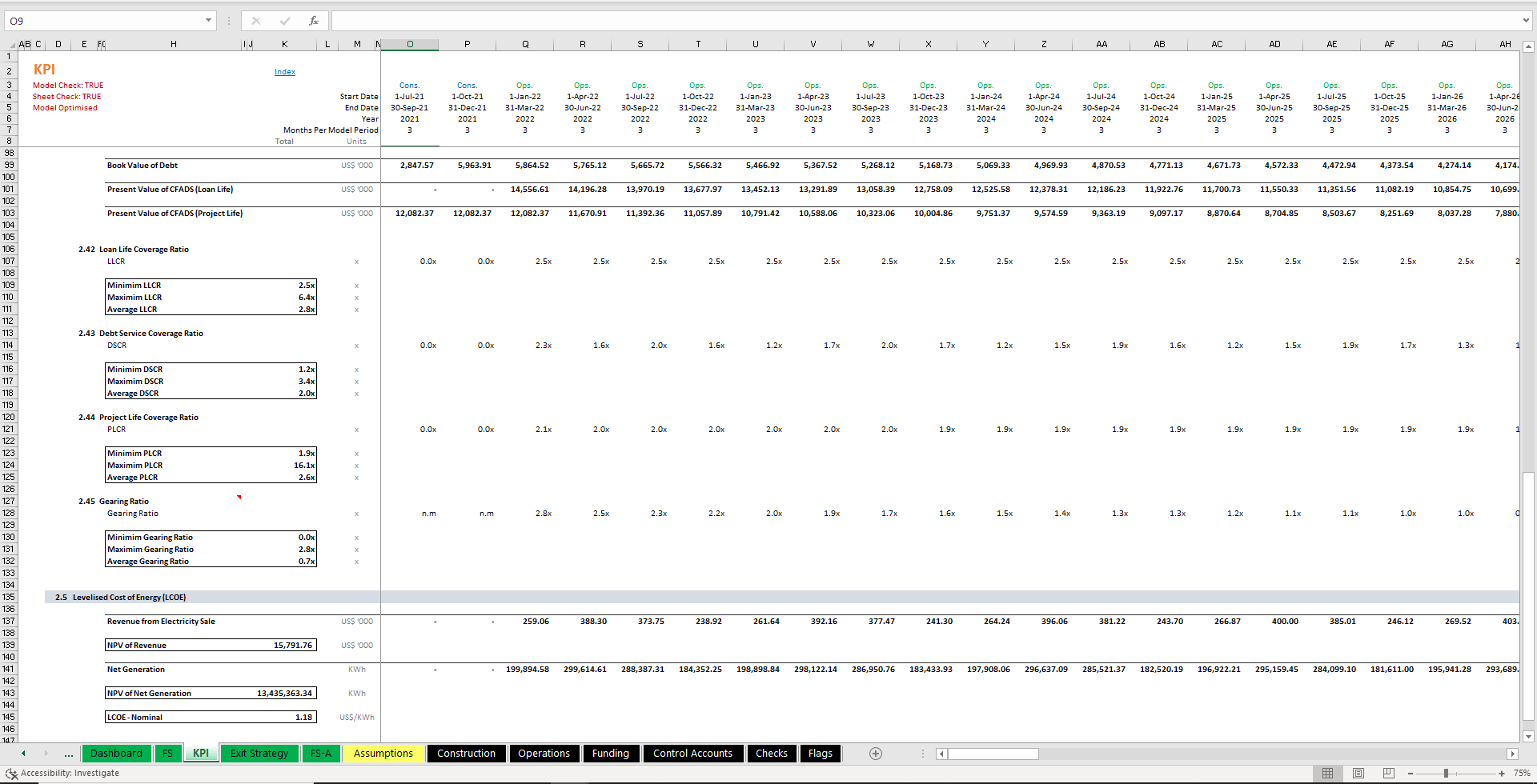 project feasibility solar rooftop excel financial model 7