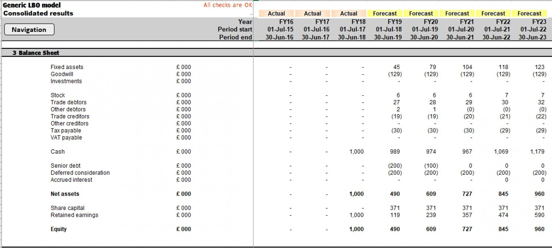 generic lbo leveraged buyout excel model template 14