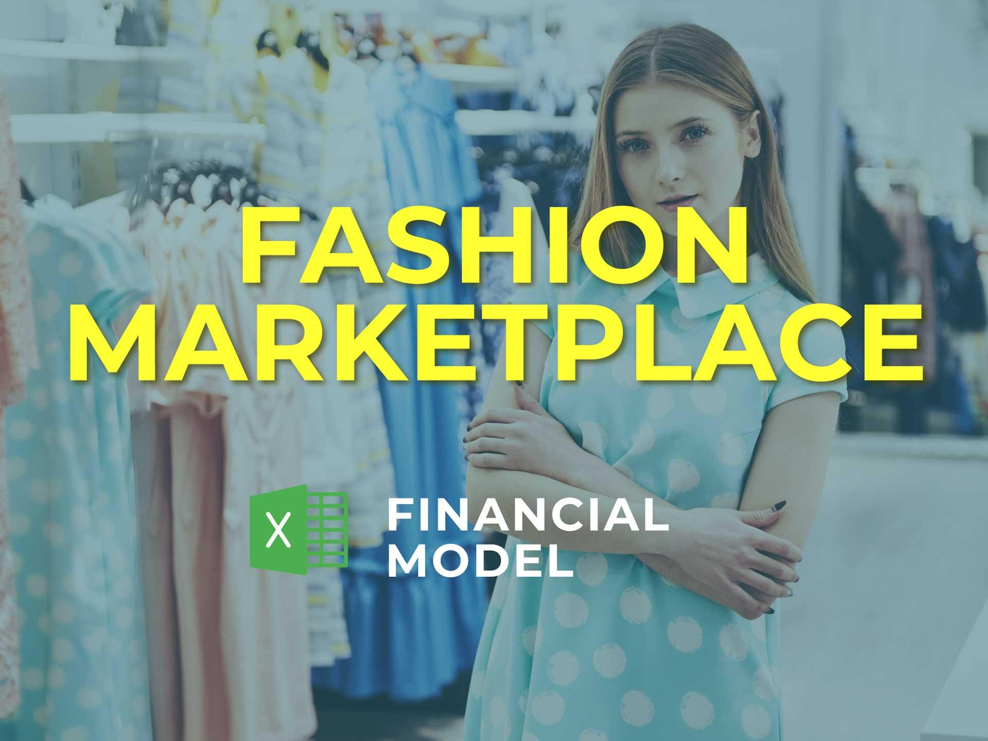 Fashion Marketplace Financial Model Excel Template - Templarket -  Business Templates Marketplace
